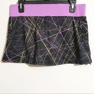 Nike Dry Fit Black Stripes & Purple Active Skort